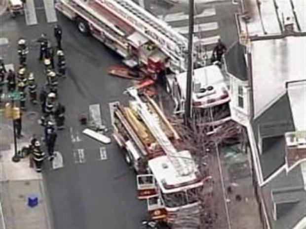 [PHI] Everyone Seems OK After Frightening Fire Truck Crash