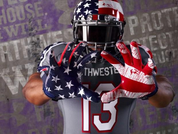 """Northwestern Unveils """"Wounded Warrior"""" Uniforms"""