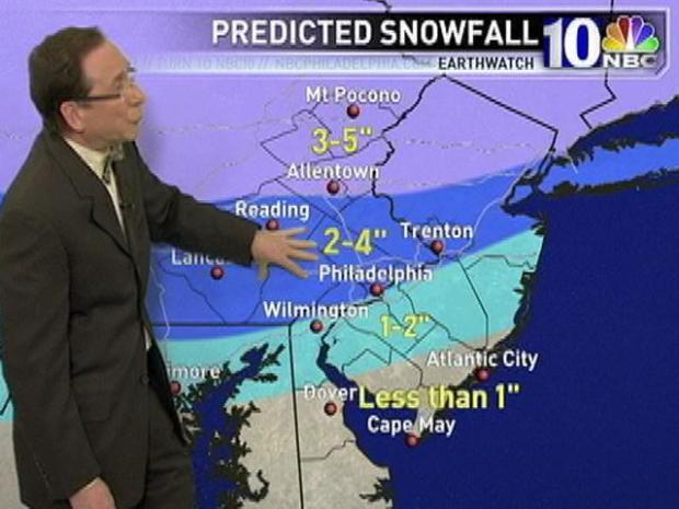 "[PHI] EarthWatch Forecast: Previewing Friday's ""Nuisance"" Snow"