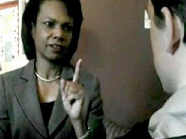 [BAY] Intern Grills Condi Rice Over Torture