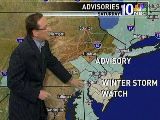 [PHI] Snow Advisories, Watches for Saturday