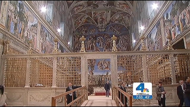 [NATL-V-LA] Prepping the Sistine Chapel for Papal Conclave