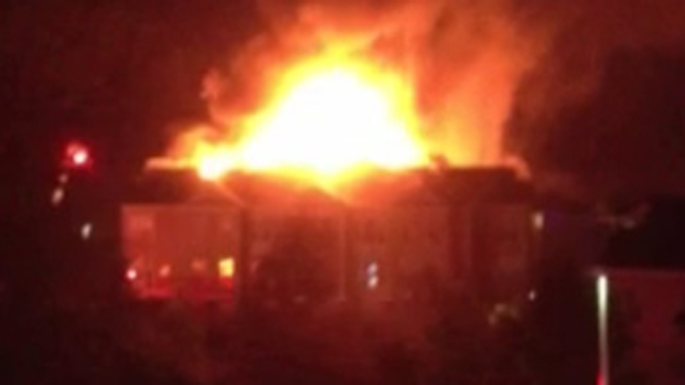 [PHI] Raw Video: 4-Alarm Bucks County Apartment Fire