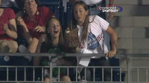 [PHI] Phillies Girl Makes Amazing Grab