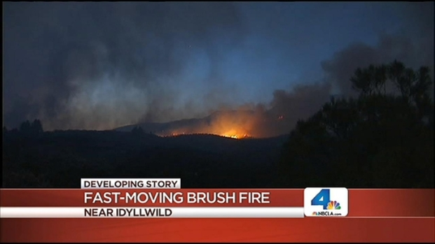 [LA] Mountain Fire in Idyllwild Continues to Threaten Homes
