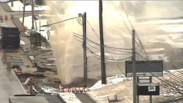 [PHI] WATCH: Water Main Break in KOP