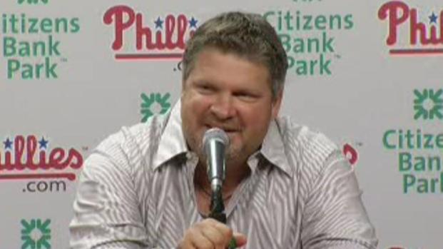 [PHI] John Kruk Accepts Philles Wall of Fame Honor