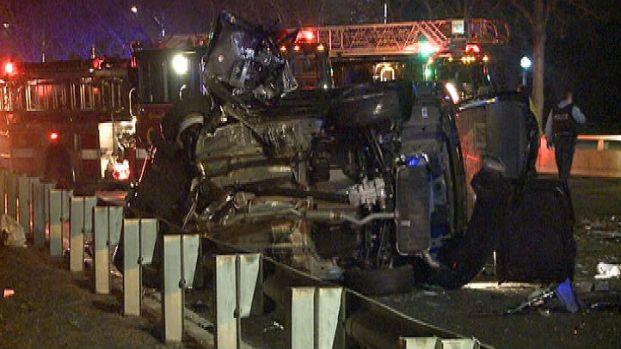 [CHI] Raw: Fatal Crash Snarls Lake Shore Drive
