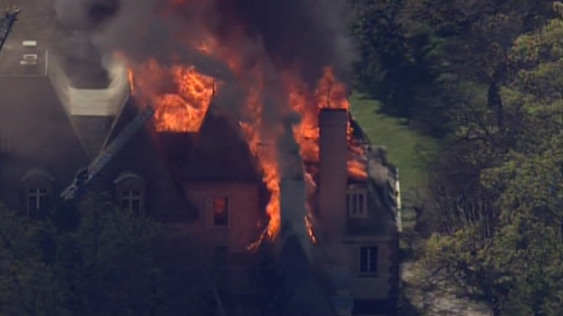 Pictures: Main Line Mansion Fire