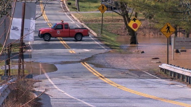 [PHI] Heavy Rains Cause Creek Flooding in Montco