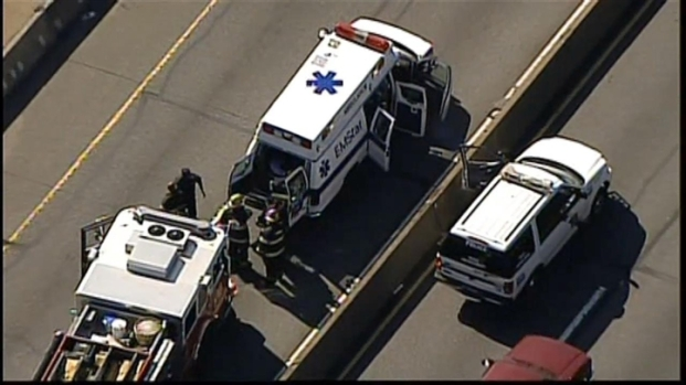 [PHI] Man Jumps Out of Ambulance on I-76
