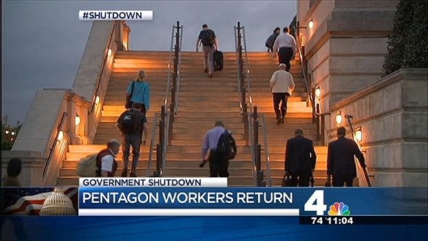 [DC] Pentagon Employees Back to Work; Thousands More Still Out During Shutdown