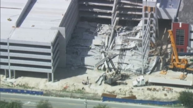 [MI] RAW VIDEO: Helicopter Footage of Miami-Dade College Parking Garage Collapse Day 2