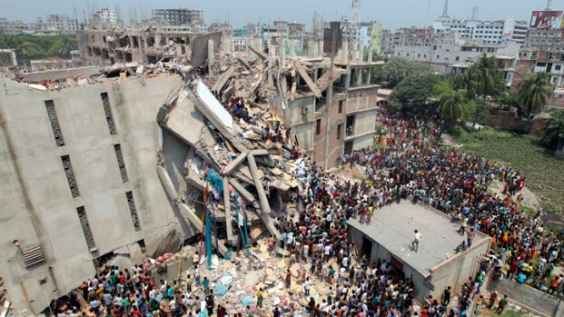 [NATL] Dramatic Photos: Building Collapses in Bangladesh