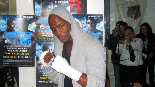 Bernard Hopkins Works Out