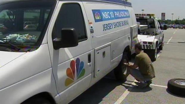 [PHI] Heat Takes Toll on NBC10 News Van