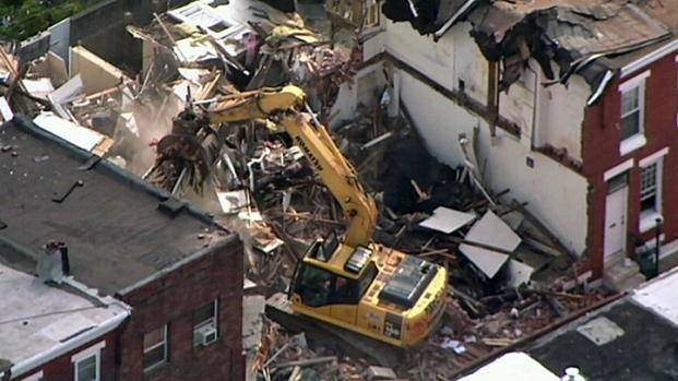 [PHI] Work Crews Begin Clearing Debris from House Explosion