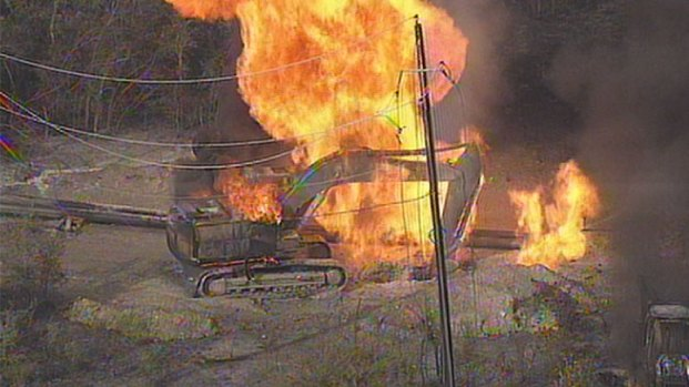 Dramatic Photos: Gas Line Explodes in Collin County