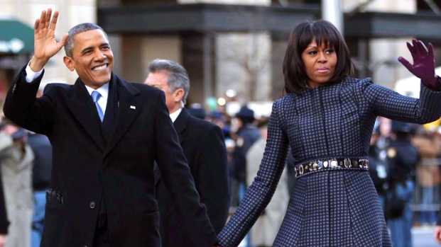 [NY] President and First Lady Walk Down Pennsylvania Avenue