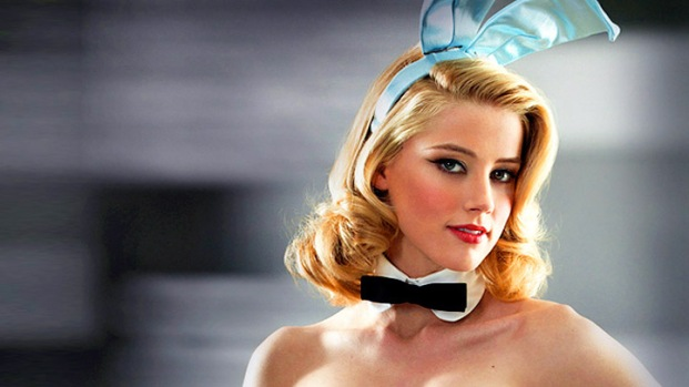 "[NATL] Fall TV: Amber Heard On ""Playboy Club's"" Bunny Costume"
