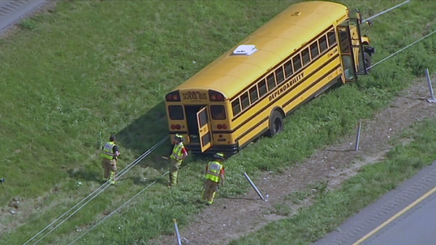 [PHI] School Bus Crashes with Kids Onboard