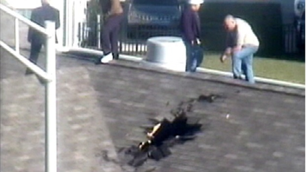 [PHI] Runaway Tire Slams Through Roof of Philly Building
