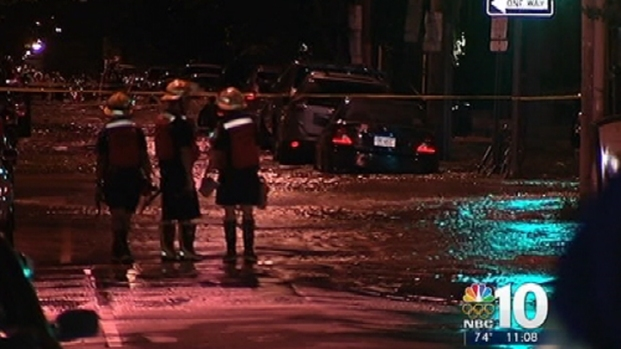 [PHI] Large Water Main Break in South Philly