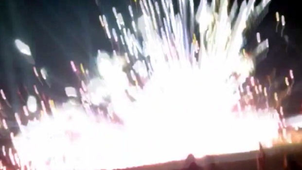 "[NATL-V-LA] Caught on Video: Fireworks Were ""Aiming at Us"""