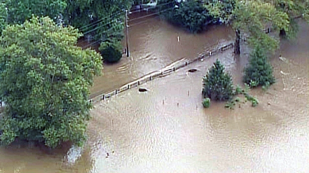 [PHI] Wissahickon Creek Floods Lafayette Hill