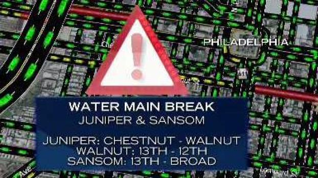 Center City Water Main Break Road Closures Still in Effect