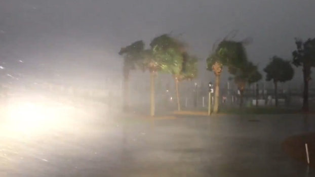Hurricane Florence Brings Strong Winds, Power Outages
