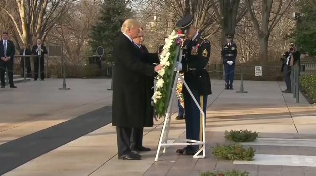 [NATL] Trump Visits Arlington for Wreath-Laying Ceremony