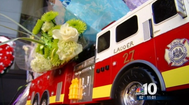 [PHI] Memorial Grows for Fallen Firefighter