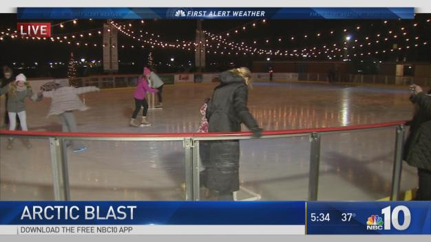 Cold Weather Doesn't Stop Skaters in Wilmington