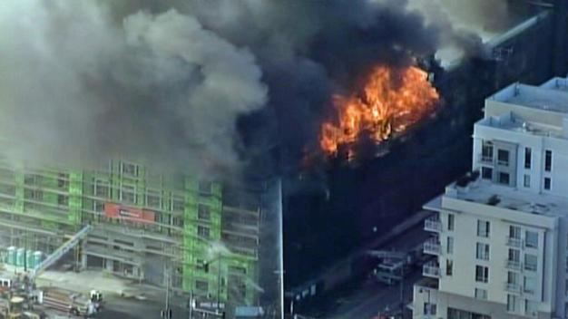 Firefighters Battle Massive 6-Alarm Blaze in San Francisco