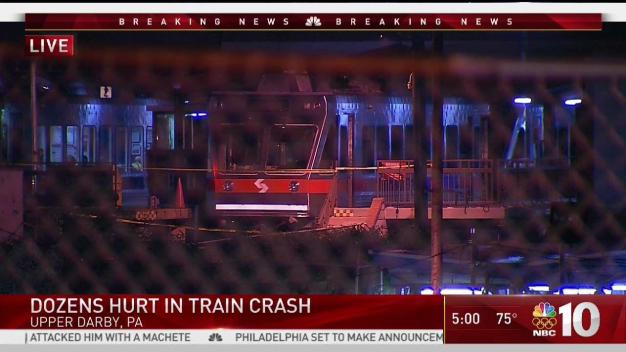 42 Injured After Train Strikes Train in Upper Darby