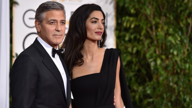 Clooney Recycled Wedding Tuxedo for Golden Globes