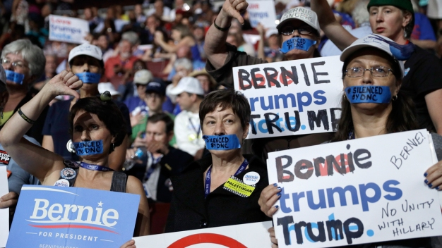 Sanders Supporters Protest DNC