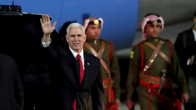 Pence Defends Trump's Shift on Jerusalem During Mideast Tour