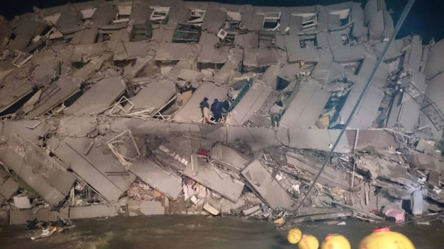3 Dead, Many Trapped After Strong Quake Rocks Taiwan