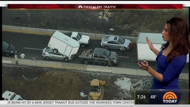 Multi-Vehicle Wreck Blocks I-95