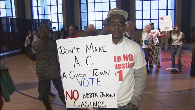 Rally Against Casino Expansion in Atlantic City