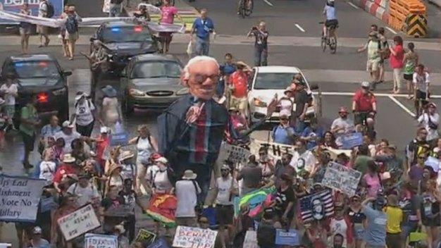 Protests Begin Ahead of DNC