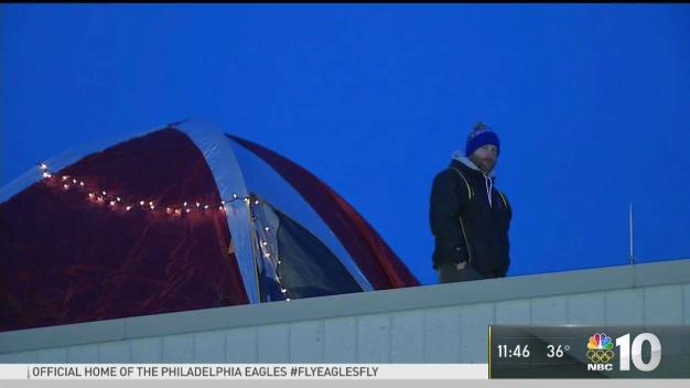 On a Bet, Chesco Principal Camps Out on Roof