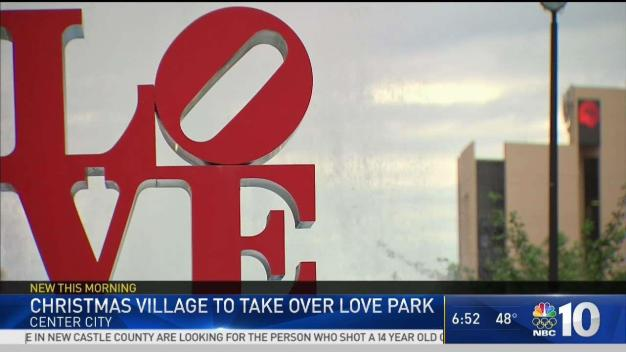 Christmas Village Returns to Renovated Love Park