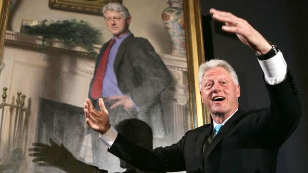 Clinton Portrait Has Nod to Lewinsky's Dress: Artist