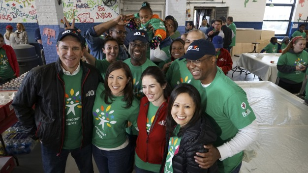 NBC10 Gets Down and Dirty for Comcast Cares