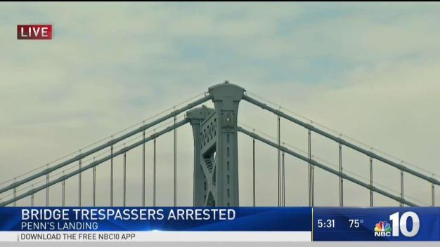 Crews Rescue Ben Franklin Bridge Trespassers