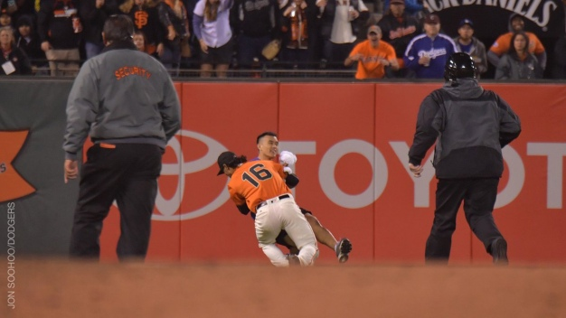 Giants Outfielder Caught on Video Body Slamming Fan on Field