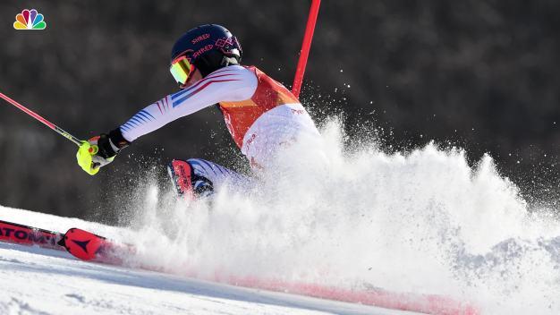 3 Americans Compete in Men's Slalom